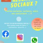 """Atelier """"à la découverte des réseaux sociaux!"""""""